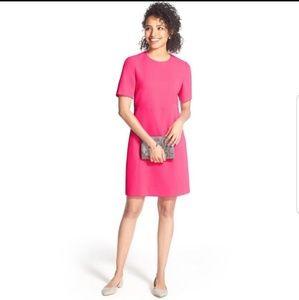 Eliza J 2 Hot Pink Dress Sheath Pockets Pencil